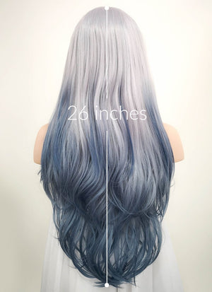 Pastel Two Tone Grey Wavy Lace Front Synthetic Wig LF1517 - Wig Is Fashion Australia