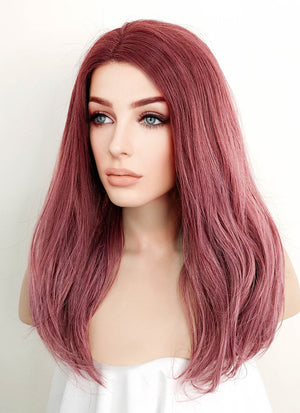 Rose Pink Straight Lace Front Synthetic Wig LF1525A - Wig Is Fashion Australia