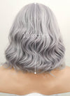 Pastel Silver Grey Wavy Bob Lace Front Synthetic Wig LF1532A - Wig Is Fashion Australia