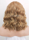 Dark Flaxen Wavy Bob Lace Front Synthetic Wig LF1532 - Wig Is Fashion Australia