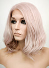 Pastel Pale Plum Wavy Bob Lace Front Synthetic Wig LF1537C - Wig Is Fashion Australia