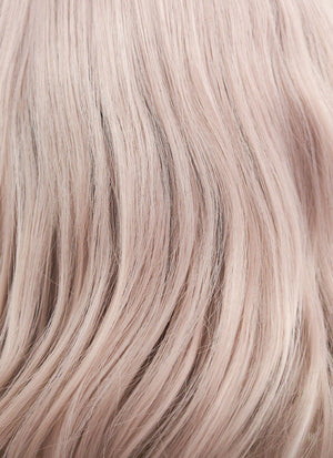 Pinkish Grey Wavy Bob Lace Front Synthetic Wig LF1537C - Wig Is Fashion Australia