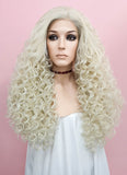 Spiral Curly Light Blonde Lace Front Synthetic Wig LF1540B - Wig Is Fashion Australia