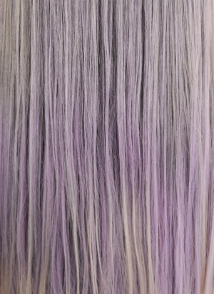 Purple Grey Ombre Straight Lace Front Synthetic Wig LF1710 - Wig Is Fashion Australia
