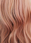 Pastel Peach Pink Wavy Lace Front Synthetic Wig LF1726 - Wig Is Fashion Australia