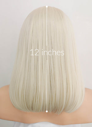 Light Blonde Straight Bob Lace Front Synthetic Wig LF1736 - Wig Is Fashion Australia