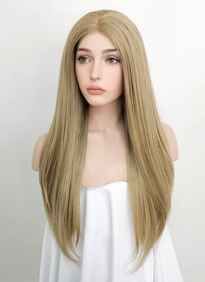 Blonde Straight Lace Front Synthetic Wig LF1739 - Wig Is Fashion Australia
