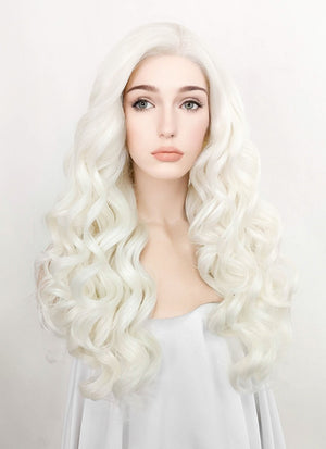 Light Blonde Wavy Lace Front Synthetic Wig LF1787