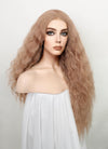 Pastel Peach Pink Wavy Lace Front Synthetic Wig LF1789