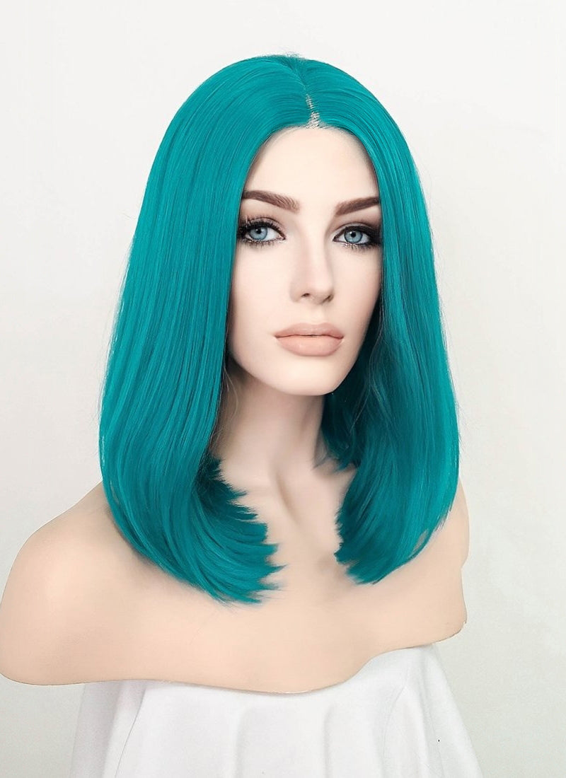 Turquoise Blue Straight Bob Lace Front Synthetic Wig LF1793