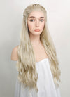 Wavy Light Ash Blonde Braided Lace Front Synthetic Wig LF2021 - Wig Is Fashion Australia