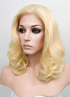 Golden Blonde Wavy Bob Lace Front Synthetic Wig LF206 - Wig Is Fashion Australia