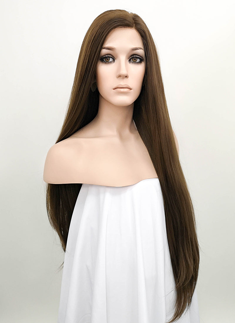 Brunette Straight Lace Front Synthetic Wig LF242 - Wig Is Fashion Australia