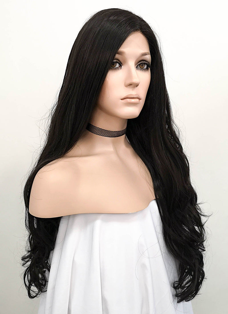 Wavy Natural Black Lace Front Synthetic Wig LF246 - Wig Is Fashion Australia