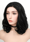 Jet Black Wavy Bob Lace Front Synthetic Wig LF257 - Wig Is Fashion Australia