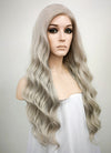 Pastel Mixed Grey Wavy Lace Front Synthetic Wig LF291 - Wig Is Fashion Australia