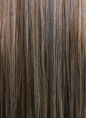 Mixed Brown Straight Lace Front Synthetic Wig LF3140