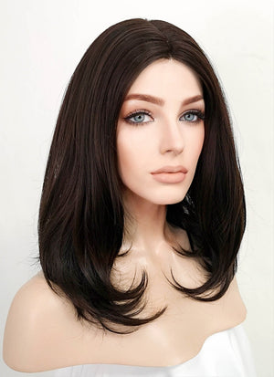 Brunette Wavy Bob Lace Front Synthetic Wig LF3172