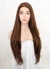 Brown Wavy Lace Front Synthetic Wig LF3202