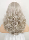 Pastel Blondish Grey Wavy Bob Lace Front Synthetic Wig LF369 - Wig Is Fashion Australia