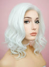 White Wavy Bob Lace Front Synthetic Wig LF405 - Wig Is Fashion Australia