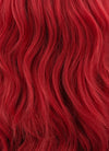 Red Wavy Bob Lace Front Synthetic Wig LF408 - Wig Is Fashion Australia