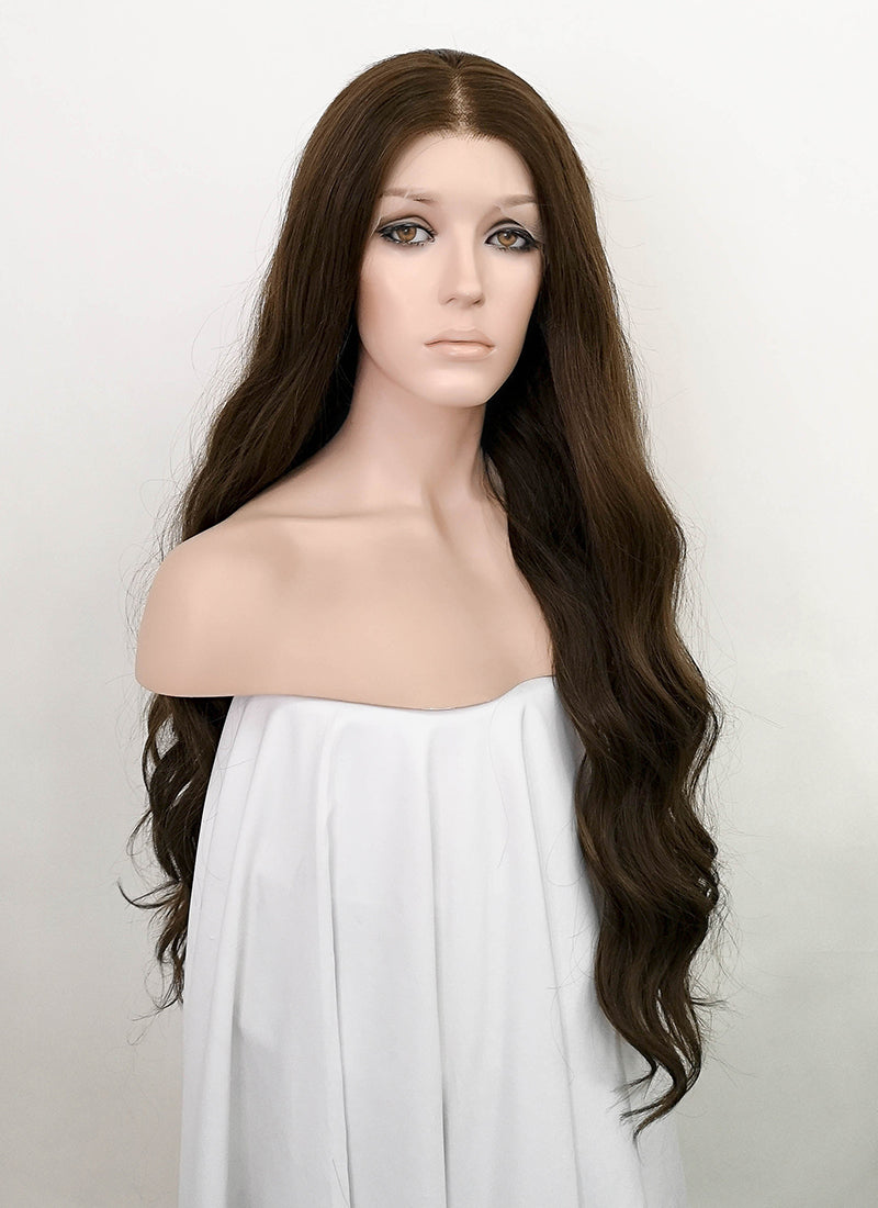 Brunette Wavy Lace Front Synthetic Wig LF5054