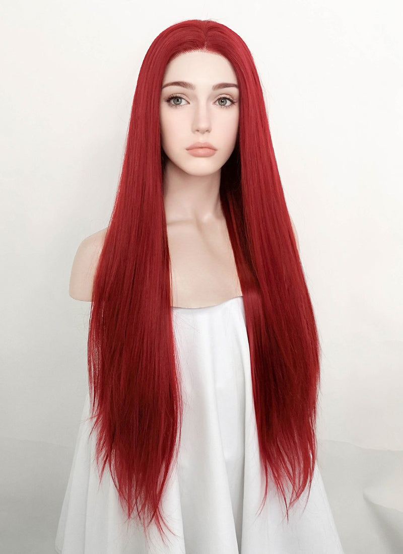 Red Straight Lace Front Synthetic Wig LF5058