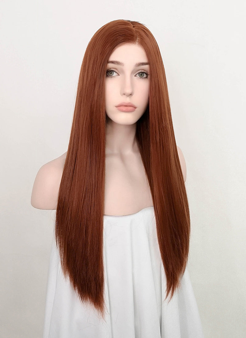 Auburn Straight Lace Front Synthetic Wig LF5069