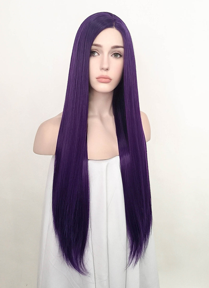 Ultra Violet Straight Lace Front Synthetic Wig LF5071