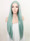 Pastel Blue Straight Lace Front Synthetic Wig LF5081