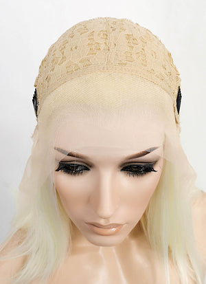 Light Blonde Straight Bob Lace Front Synthetic Wig LF521