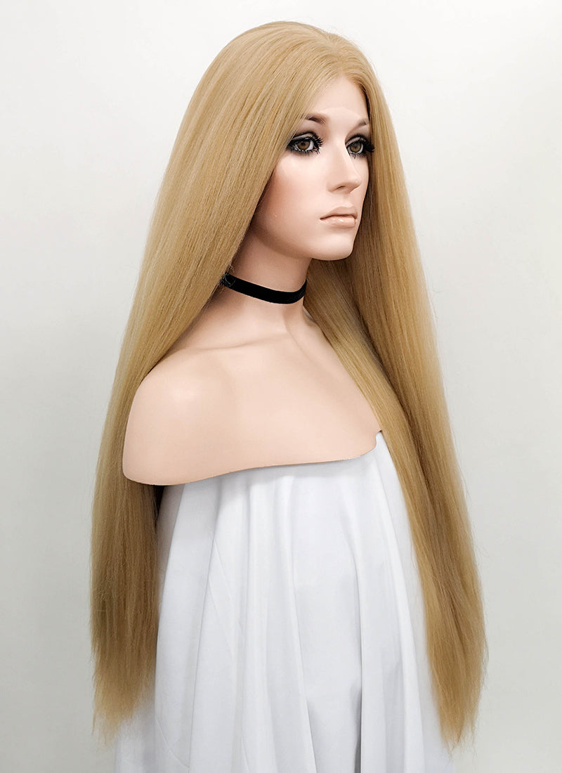 Golden Blonde Straight Yaki Lace Front Synthetic Wig LF624P - Wig Is Fashion Australia