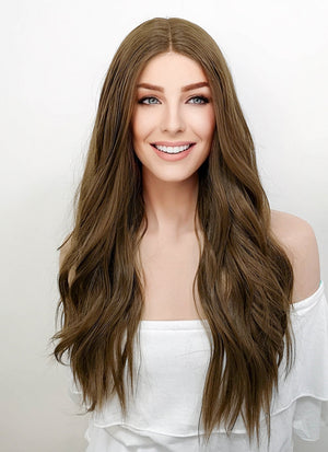 Brunette Wavy Lace Front Synthetic Wig LF7000