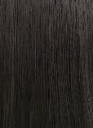 Straight Yaki Natural Black Lace Front Synthetic Wig LF701A - Wig Is Fashion Australia
