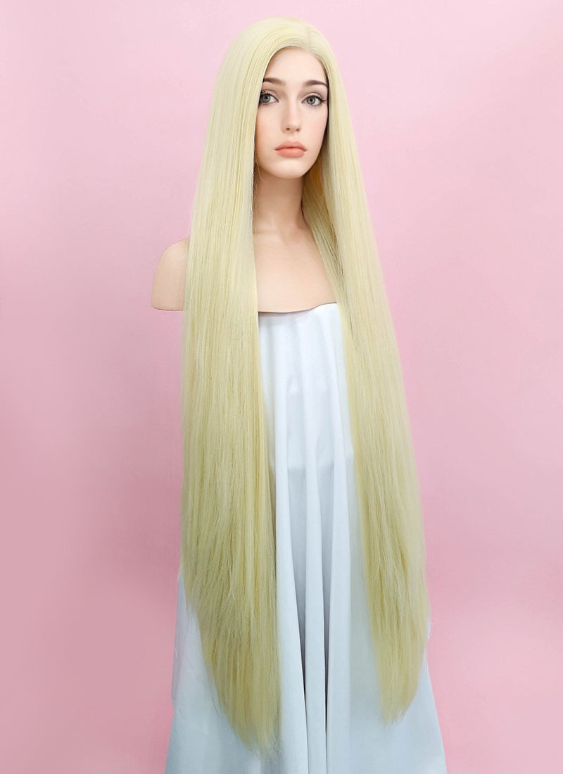 Straight Yaki Blonde Lace Front Synthetic Wig LF701E - Wig Is Fashion Australia