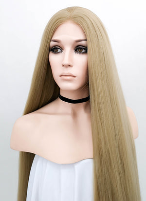 Blonde Straight Yaki Lace Front Synthetic Wig LF701X - Wig Is Fashion Australia