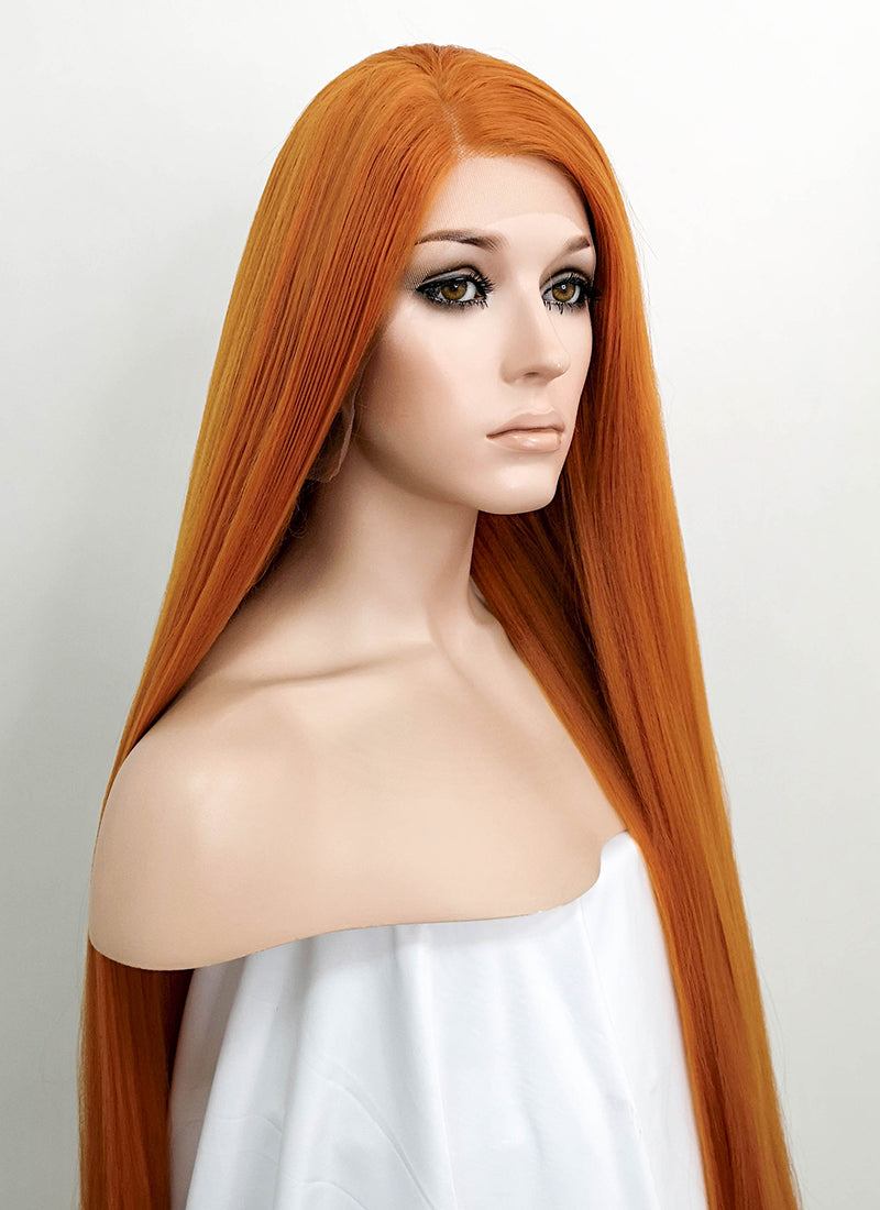 Light Auburn Straight Yaki Lace Front Synthetic Wig LF701Y - Wig Is Fashion Australia
