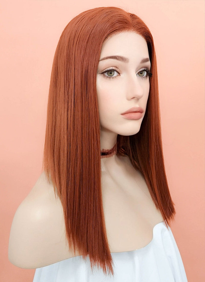 Auburn Straight Bob Lace Front Synthetic Wig LF770C - Wig Is Fashion Australia
