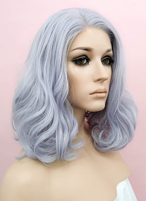 Pastel Lilac Wavy Lace Front Synthetic Wig LF771D - Wig Is Fashion Australia