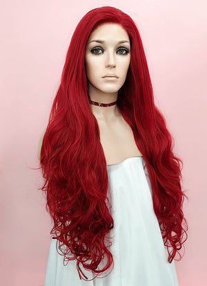 Wavy Red Lace Front Synthetic Wig LF809 - Wig Is Fashion Australia