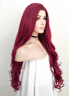 Wavy Reddish Purple Lace Front Synthetic Wig LF814 - Wig Is Fashion Australia
