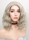 Pastel Blonde Wavy Bob Lace Front Synthetic Wig LF831B - Wig Is Fashion Australia