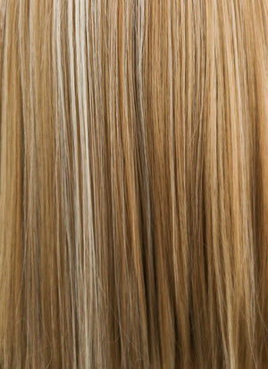 Mixed Blonde With Dark Roots Straight Bob Lace Front Synthetic Wig LF837I - Wig Is Fashion Australia