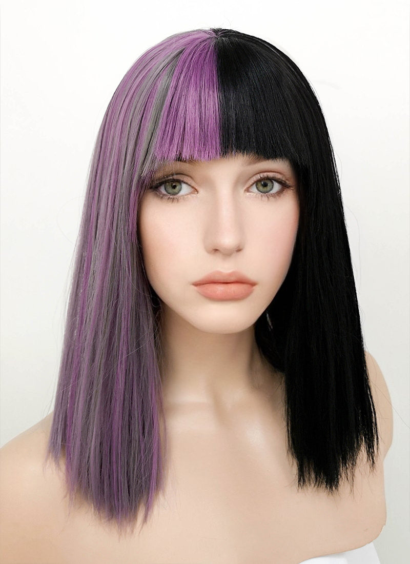 Get Violet Black Hair Color Background