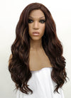 Brunette Wavy Lace Front Synthetic Wig LFB105 - Wig Is Fashion Australia