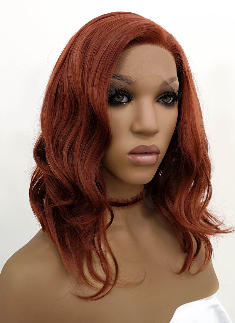 Auburn Wavy Lace Front Synthetic Wig LFB1257 - Wig Is Fashion Australia