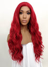 Wavy Red Lace Front Synthetic Wig LFB355 - Wig Is Fashion Australia