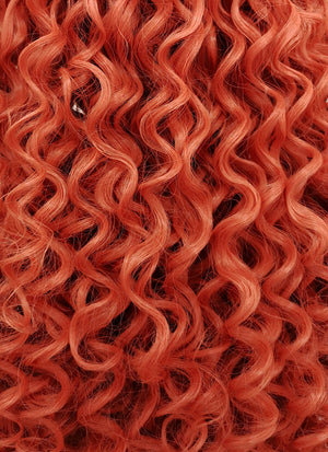 Orange Red Spiral Curly Lace Front Synthetic Wig LFB663J - Wig Is Fashion Australia