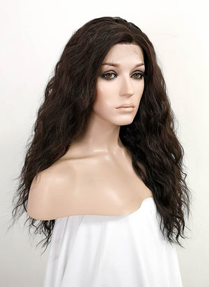 Dark Brown Wavy Lace Front Synthetic Wig LFK5510